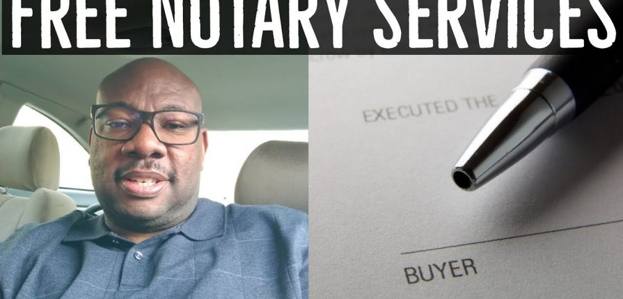 Free Notary Services at your local Bank