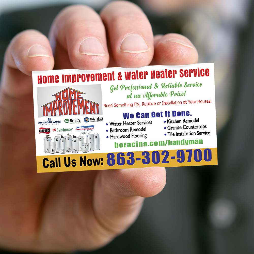 Home Improvement, Water Heater Repair and replacement Service